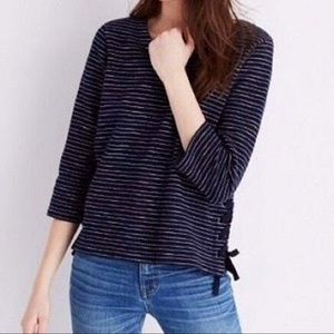Madewell Striped Side tie Top 🌟